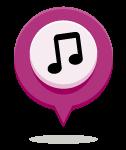 Icono música, campamentos de Verano